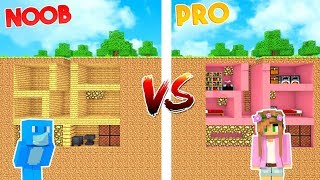 THE SECRET BUNKER! *MOST SECURE NOOB vs PRO* | Minecraft Little Kelly