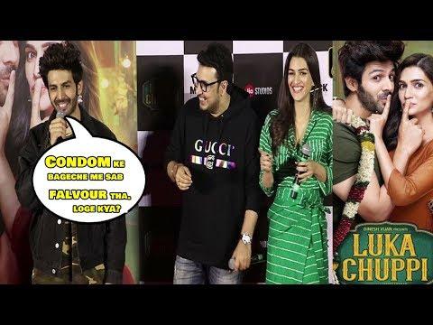 FUNNY Moments Luka Chuppi Trailer Launch   Kartik Aaryan & Kriti Sanon's With Media Reporter