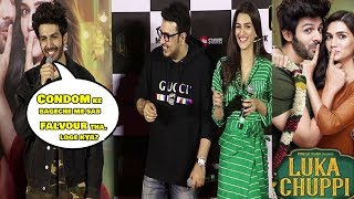 FUNNY Moments Luka Chuppi Trailer Launch|  Kartik Aaryan & Kriti Sanon's With Media Reporter