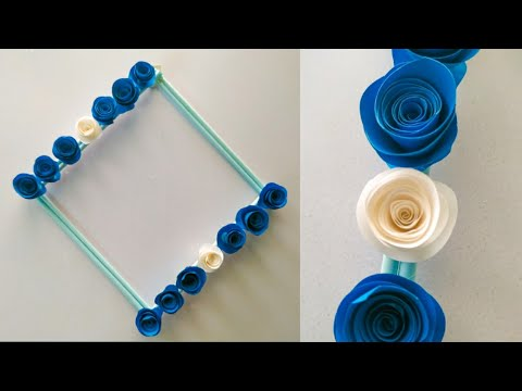Very Easy Paper Flower Wall Hanging / Diy Wall hanging / Wall decoration ideas/ Wall decor