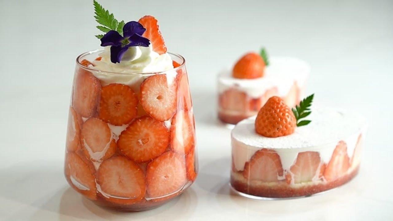 예쁘고 진짜 맛있는 딸기보틀케이크 만들기 Strawberry Bottle Cake :: 지니 Jiny