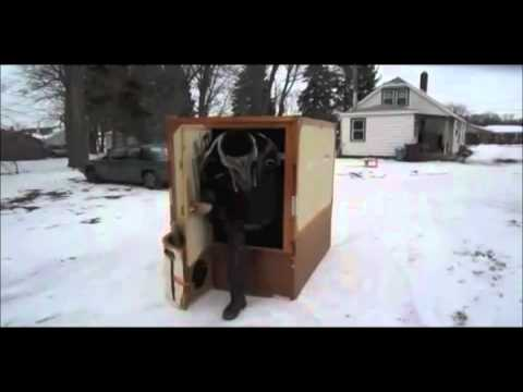 Worlds Fastest Folding Ice Fishing Shanty