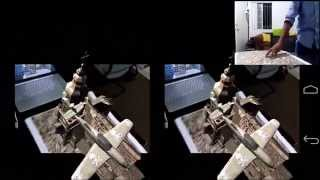 3D Augmented Reality using a smartphone & a cardboard box