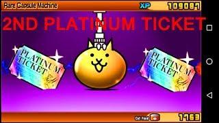 The Battle Cats - 2ND PLATINUM CAT TICKET/CAPSULE