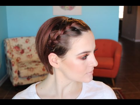 Style A Growing Pixie | French Braid Bangs