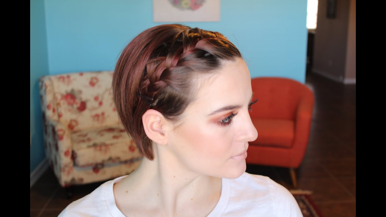 Braided Bangs Hairstyles Style A Growing Pixie French Braid Bangs Youtube