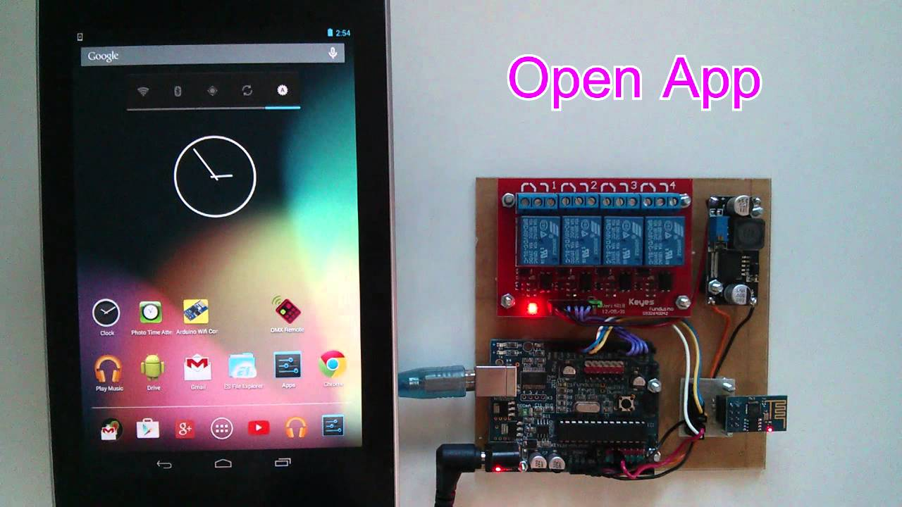 Android arduino wifi control devices with esp module