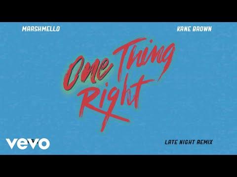 Marshmello, Kane Brown - One Thing Right (Late Night Remix [Audio])