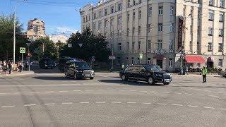 Кортеж президента Владимира Путина в Екатеринбурге