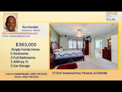 5 bed 2 1/2 bath Phoenix  homes for sale with a pool