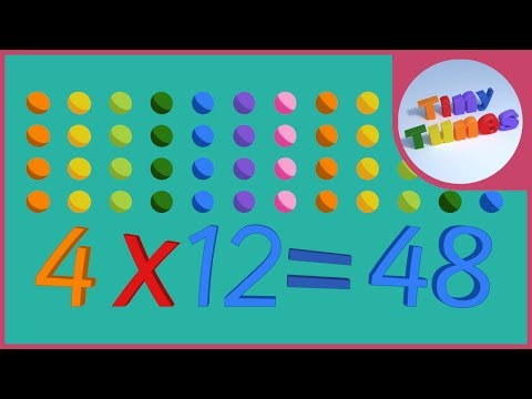 4 Times Table Song | Tiny Tunes