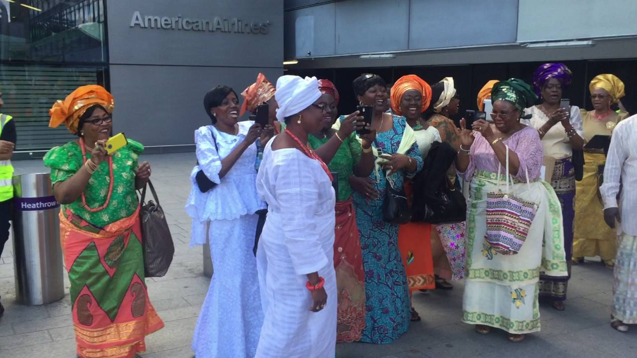 Download The Olu of Warri - His Majesty Ogiame Ikenwoli at London Heathrow airport 2016 -3
