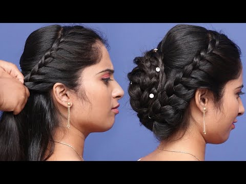Beautiful Hairstyle For Marriage and Wedding Party | hairstyles | hair style girl | cute hairstyles thumbnail