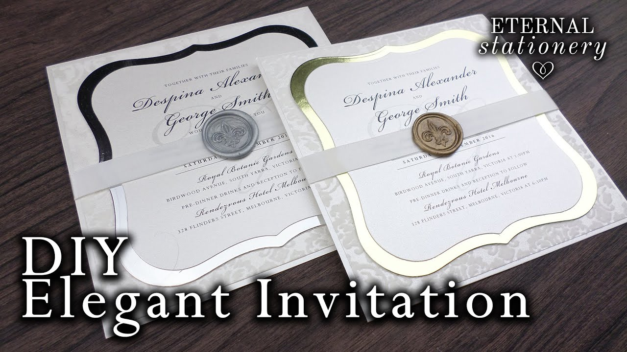 How to make elegant wedding invitations | DIY wax seal invitation ...