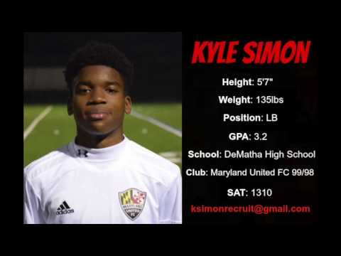 Kyle Simon - College Soccer Recruiting Video - Season 2016/2017 - Class of 2018