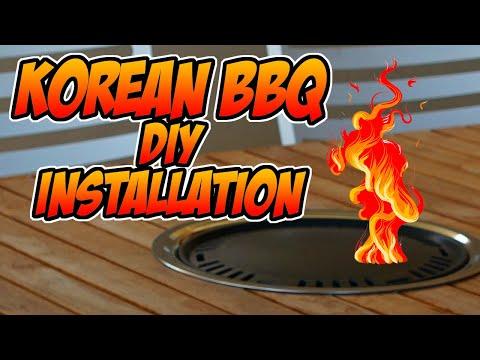 Korean BBQ Table Installation