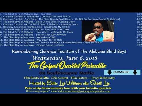 6 6 18 The Gospel Quartet Paradise With Elder Lee On SoulProsper Radio