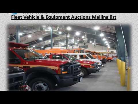 Fleet Vehicle Equipment Auctions Mailing list