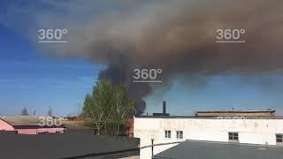 Пал травы привел к взрыву боеприпасов в Пугачево