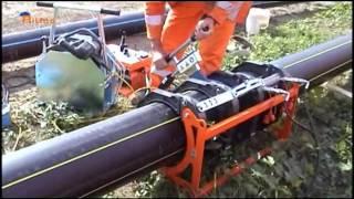 Сварка ПЭ труб гидравлическим аппаратом(На видео показан процесс стыковой сварки полиэтиленовых труб аппаратом Delta Basic (производитель Ritmo, Италия), 2015-06-10T09:27:17.000Z)