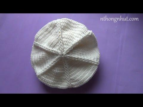 Hướng dẫn móc nón len: kiểu mũ Beret