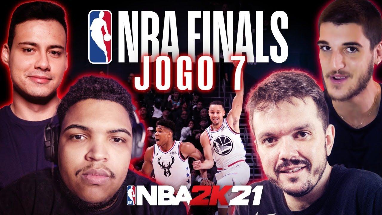 DESAFIO HISTÓRICO NBA 2K21 - BUCKS X WARRIORS com @Gaules, @Caio Teixeira, @Jotaplays E @MuuhPro