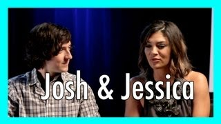 Jessica Szohr & Josh Brener interview - The Internship | iJustine