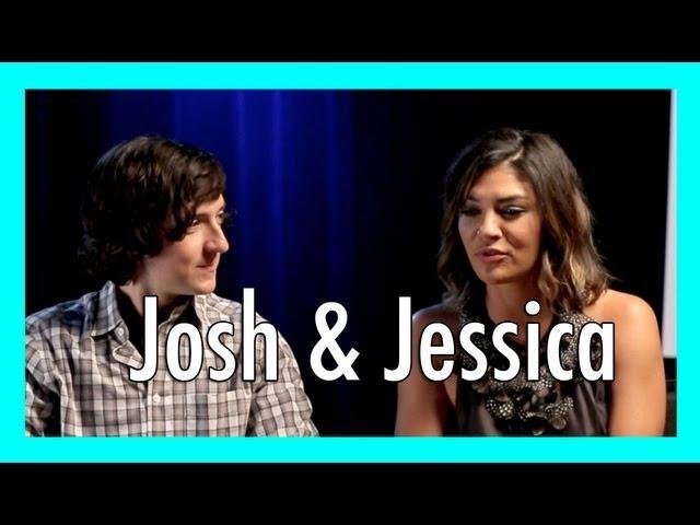 Jessica Szohr & Josh Brener interview - The Internship | iJustine