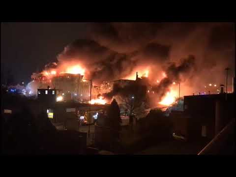 Massive Fire In A London Paint Factory