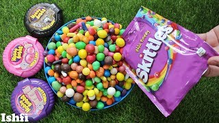 Lots of Colorful Hubba Bubba Skittles candy unboxing from Ishfi