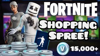Fortnite Shopping Spree! (15,000+ V-bucks)
