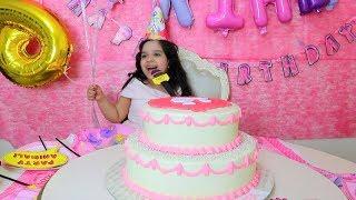 غنت في الحفلة ! عيد ميلاد شفا وأجمل كيكة باربي happy birthday party barbie cake