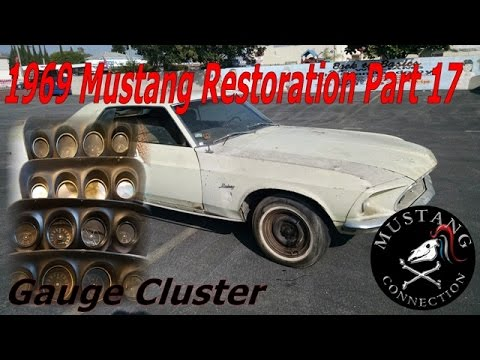 1969 Mustang New Lime Restoration Part 17 Gauge Cluster Mustang Connection