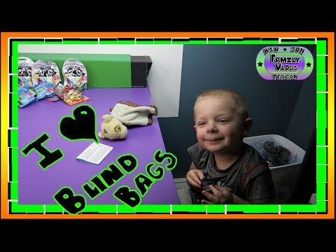 Download Youtube: Teagan Loves his Blind Bags! 9.20.2017 | Bin and Jon's Family Vlogs