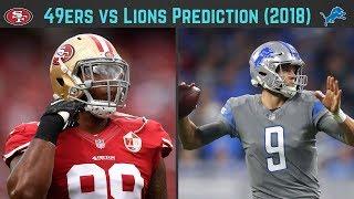 49ers vs Lions Predictions (Week 2, 2018)