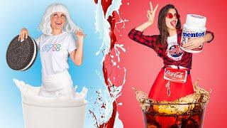 Девушка кока-кола и девушка-молоко!