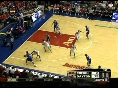 Dana Altman (Creighton) High Post Offense Vs  Dayton (2006-07 Season)