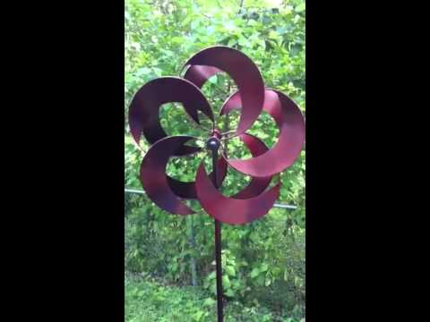 Gifte-mart kinetic metal wind spinner sculpture large garden windmill spinner