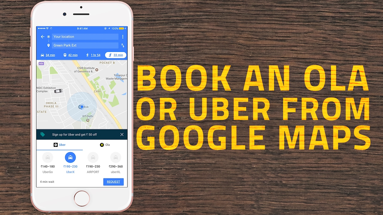 How To Book an Uber or Ola Cab From Google Maps