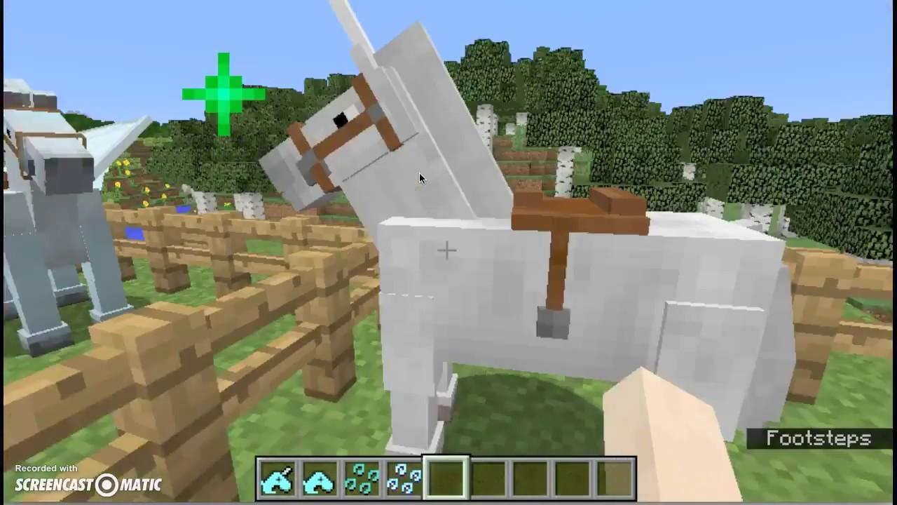 Minecraft Mod    Unicorn and Pegasus!!