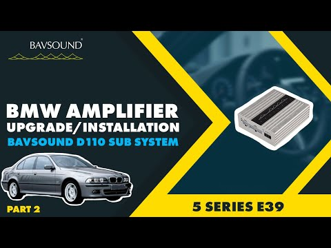BAVSOUND  BMW e39 5 Series nonDSP  24 Amplifier Connections for D110 Sub System  YouTube