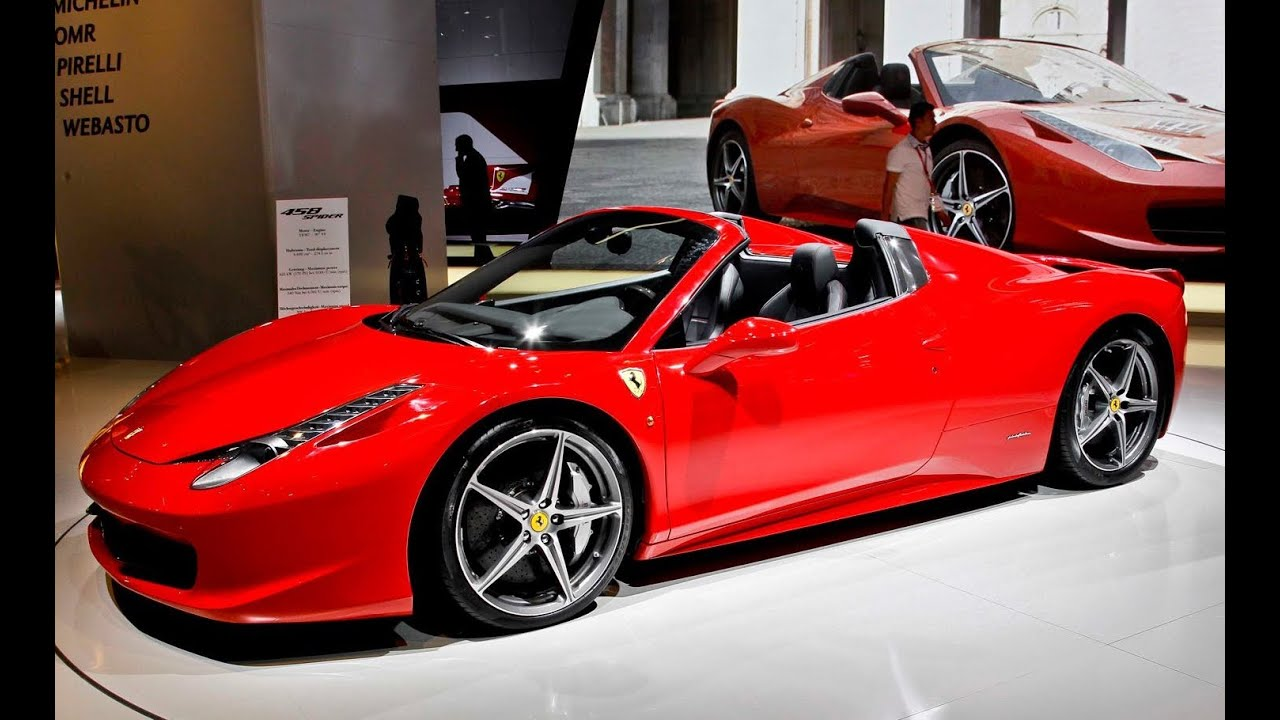 Amazing 2011 Frankfurt: 2012 Ferrari 458 Spider   YouTube