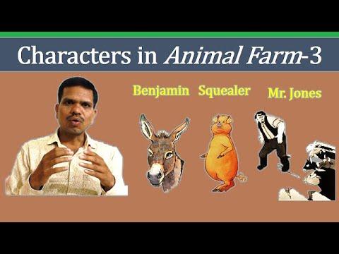 Characters In Animal Farm 3 Mr Jones Squealer Benjamin Youtube