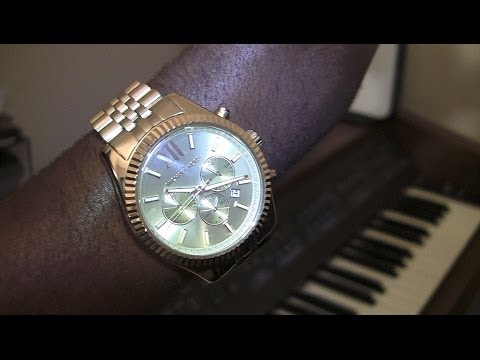 4cb65d278cba Men s Micheal Kors Lexington Watch Review  HD) - YouTube