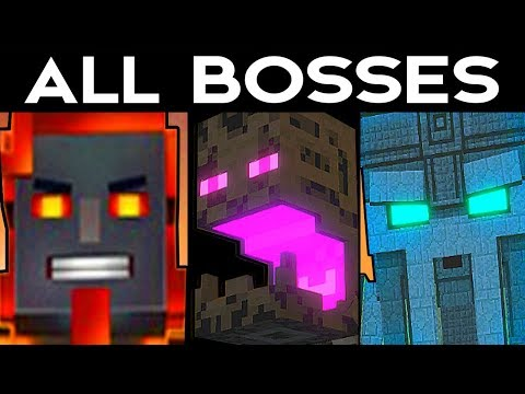 Minecraft Story Mode SEASON 2 - ALL BOSSES / ALL BOSS BATTLES