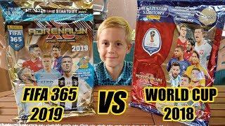 PANINI FIFA 365 2019 vs WORLD CUP 2018 - UNBOXING ZESTAWÓW STARTOWYCH