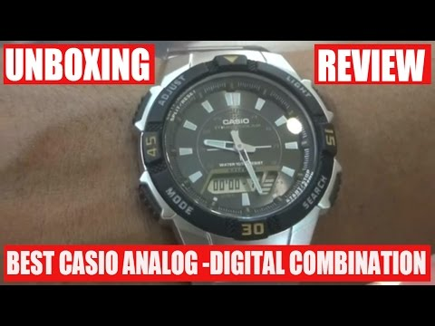Digital + Analog Casio Watch Unboxing and Review - CASIO AQS800WD1EVDF MEN WRIST WATCH