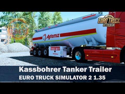 Обзор мода Kassbohrer Tanker Trailer ETS2 1 35