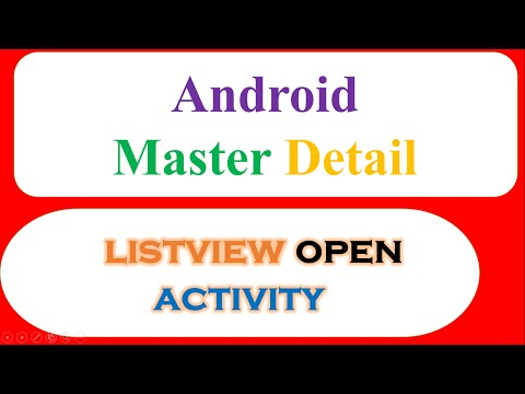 Android Master Detail Ep.01 : Custom ListView - Open Activity,Pass Data when Clicked