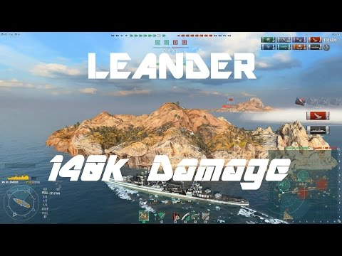 Royal Navy T6: Leander [140k damage]